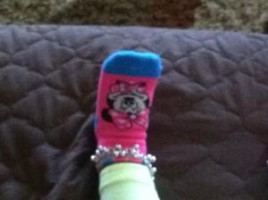 Minnie Mouse socks and jhanjara anklet bracelet