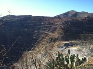 One view of the Lavender Open Pit Mine