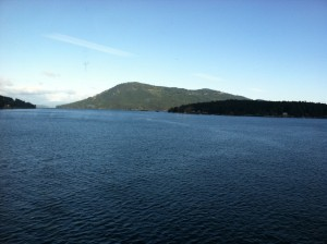Beautiful waters between the mainland and Vancouver Island, BC